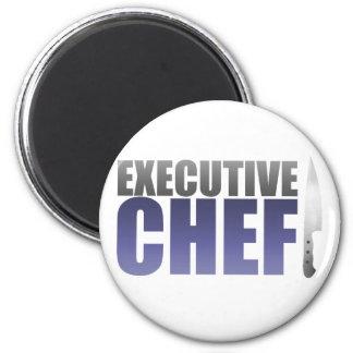 Blue Executive Chef Refrigerator Magnets