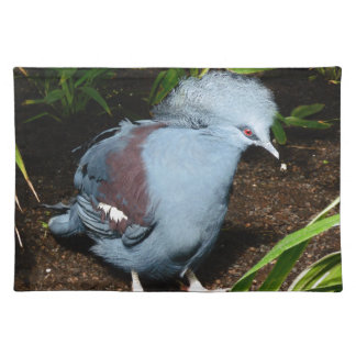 Blue Exotic Bird Placemats