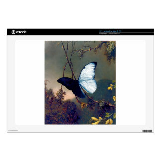 Blue Exotic butterfly painting Skin For Laptop