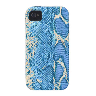 Blue Exotic Snake Skin iPhone #2 iPhone 4/4S Cover