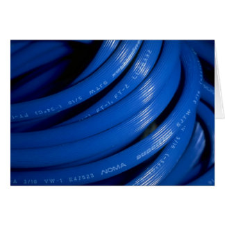 Blue extension cord card