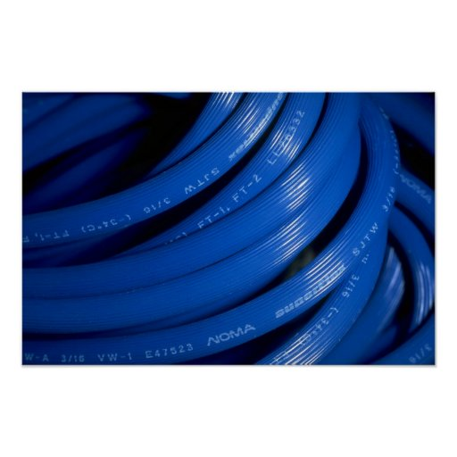 Blue extension cord print