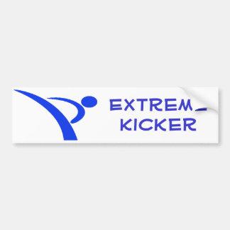 Blue Extreme Kicker Bumper Sticker