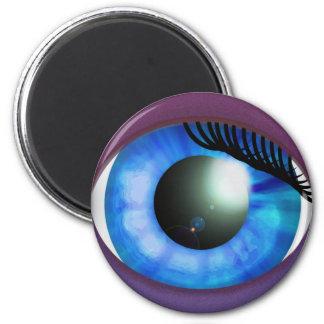 Blue Eye 2 Inch Round Magnet