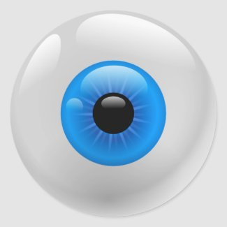 BLUE EYE BALL sticker