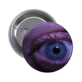 blue eye pinback button
