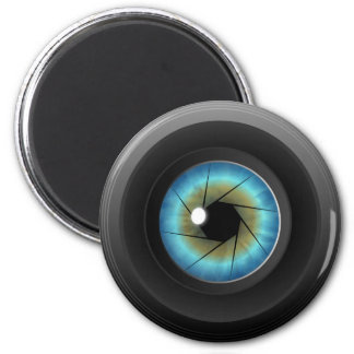 Blue Eye Camera Lens Custom Fridge Magnet