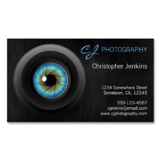 Blue Eye Camera Lens Photography Photographer Business Card Magnet
