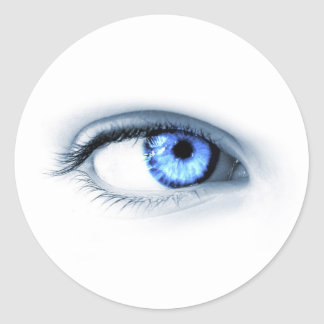 Blue Eye Classic Round Sticker