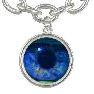 Blue Eye Color True to Life Photo Circular Pattern Bracelets