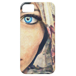 Blue Eye cool classic watercolor portrait painting iPhone SE/5/5s Case