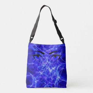 Blue eye debth crossbody bag