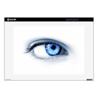 "Blue Eye Decals For 15"" Laptops"