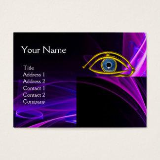 BLUE EYE Doctor,Ophthalmic,Oculist Symbol,Purple Business Card