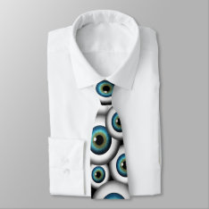 Blue Eye Eyeballs Cool Custom Neckties Tie at Zazzle