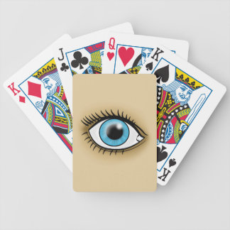 Blue Eye icon Bicycle Playing Cards