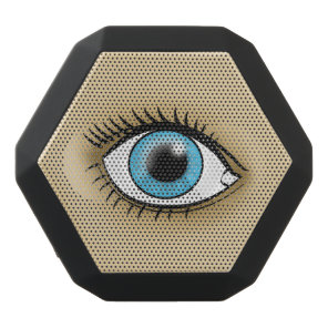 Blue Eye icon Black Bluetooth Speaker