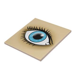 Blue Eye icon Ceramic Tile