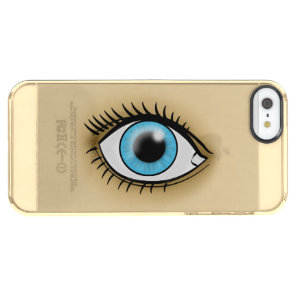Blue Eye icon Clear iPhone SE/5/5s Case