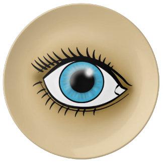 Blue Eye icon Dinner Plate