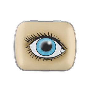 Blue Eye icon Jelly Belly Candy Tin