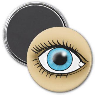 Blue Eye icon Fridge Magnets
