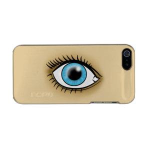 Blue Eye icon Metallic iPhone SE/5/5s Case