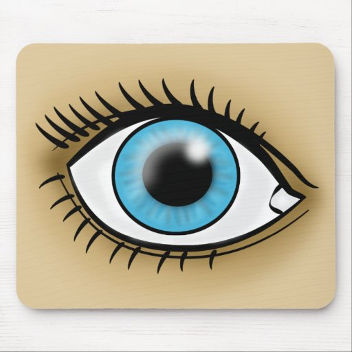 Blue Eye icon Mouse Pad