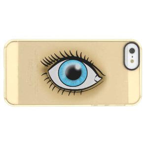 Blue Eye icon Permafrost iPhone SE/5/5s Case