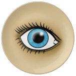 Blue Eye icon Porcelain Plates