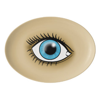 Blue Eye icon Porcelain Serving Platter