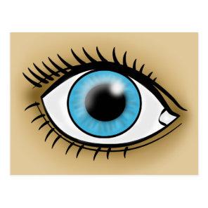 Blue Eye icon Postcard