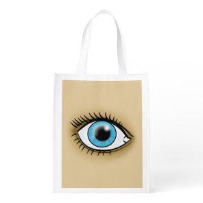 Blue Eye icon Reusable Grocery Bag
