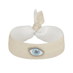 Blue Eye icon Ribbon Hair Tie