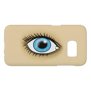 Blue Eye icon Samsung Galaxy S7 Case