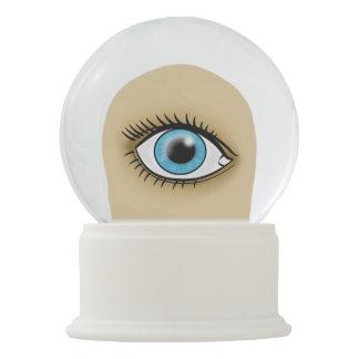 Blue Eye icon Snow Globe