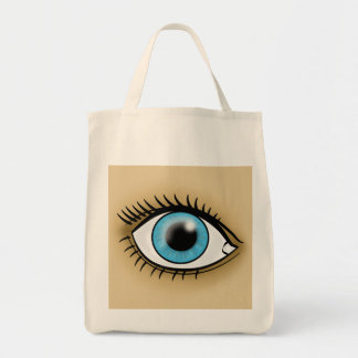 Blue Eye icon Tote Bags