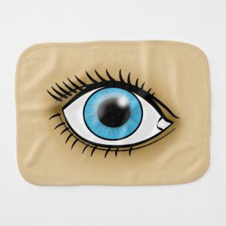 Blue Eye icon Baby Burp Cloth