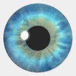 Blue Eye Iris Cool Eyeball Custom Round Stickers