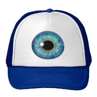 Blue Eye Iris Cool Eyeball Fun Custom Hats