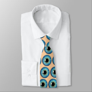 Blue Eye Iris Eyeball Cool Custom Neck Tie