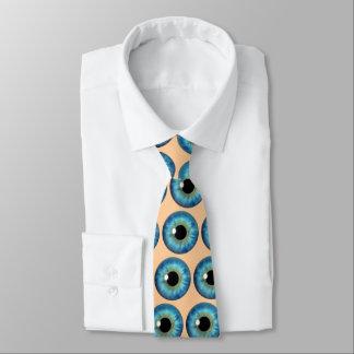 Blue Eye Iris Eyeball Cool Custom Neck Tie