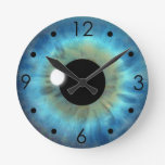 Blue Eye Iris Eyeball Custom Medium Round Clock