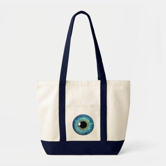 Blue Eye Iris Impulse Cool Custom Tote Bags