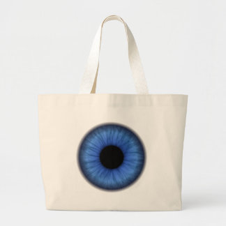blue eye is cute large tote bag