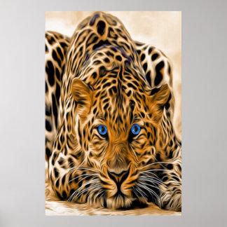 Blue Eye Leopard Poster