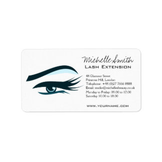 Blue Eye long eyelashes Lash extension  icon Label