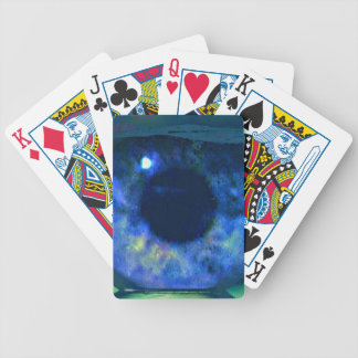 Blue Eye Looking Through A Fishbowl Bicycle Playing Cards