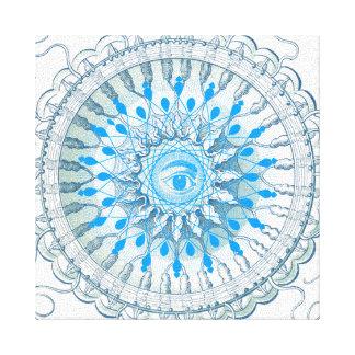 Blue Eye Mandala Art Canvas Canvas Prints