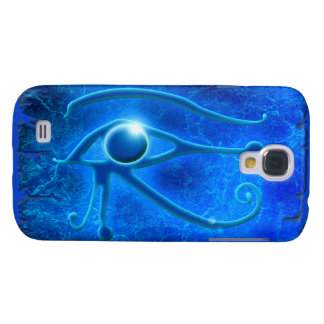 Blue Eye of Horus, Wadjet Egyptian Fantasy in Blue Galaxy S4 Cases